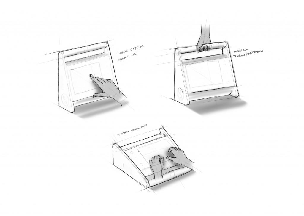 Design Skizzen von Nutzungsmögliichkeiten